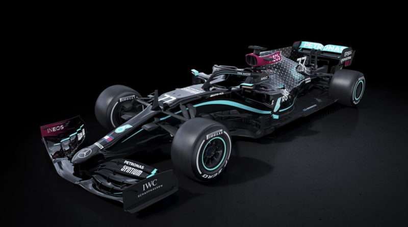 Mercedes Formel 1 Auto W11 black lives matter